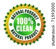 Natural clean product icon - stock photo