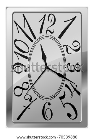 Natural clock icon isolated on white for design. Vector version also available in gallery - stock photo