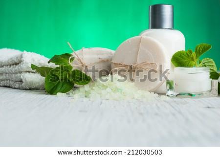 Natural Cosmetics.Spa - stock photo