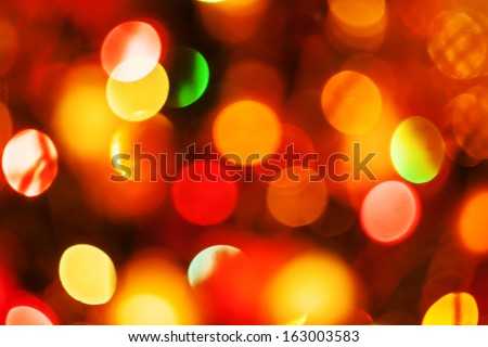 natural defocused christmas lights, good for background - stock photo