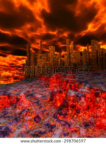 Natural disaster - stock photo