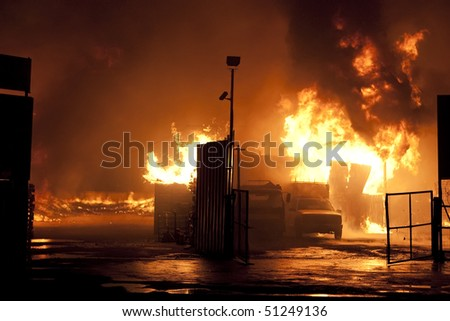Natural disaster - fire - stock photo