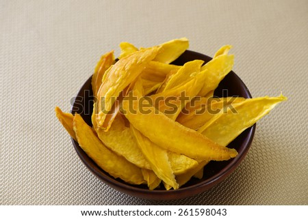 Natural dry mango for snack - stock photo