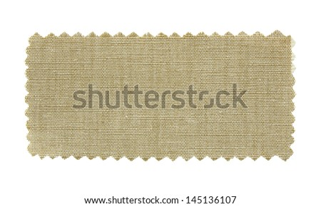 natural fabric swatch samples isolated on white background - stock photo
