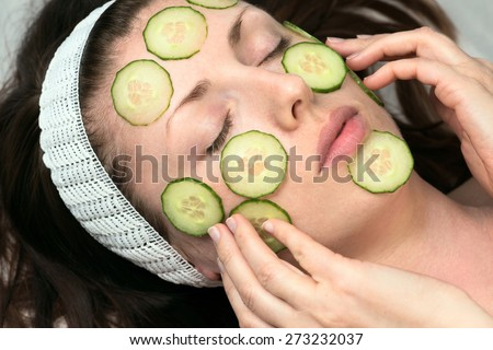 natural face-pack  - stock photo