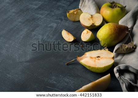 Natural fruits background - stock photo