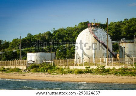 Natural gas tank , LPG - stock photo