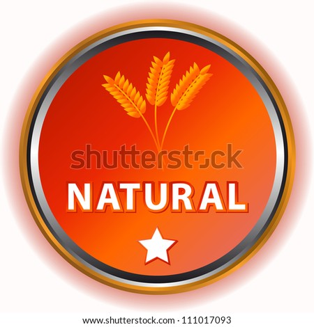 Natural icon with a symbol of an ear and a star - stock photo