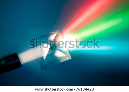 natural light dispersion - stock photo
