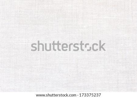 Natural linen background./White Textile. - stock photo