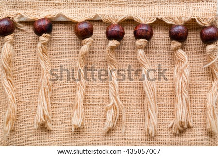 natural linen texture. linen pattern fabric for design or background. sackcloth textured. brown sack texture canvas. - stock photo