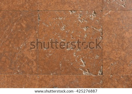 Natural marble stones in old castle hall. Filling with cement into nice natural texture background - stock photo