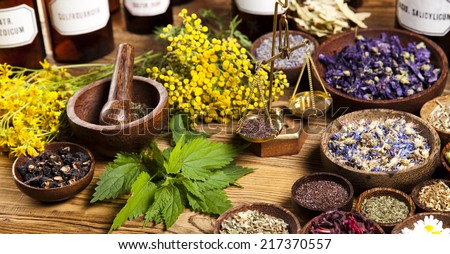 Natural medicine - stock photo