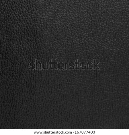 Natural qualitative black leather texture. Close up. - stock photo