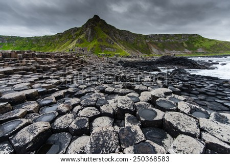 Natural rocks in belfast area, Northern Ireland - stock photo