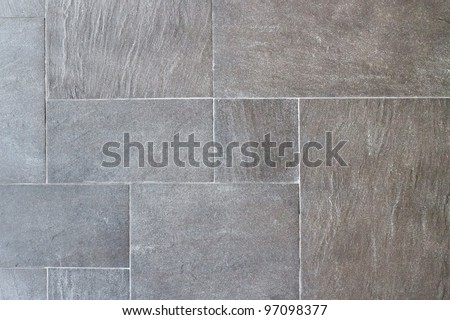 Natural slate tile paving - stock photo