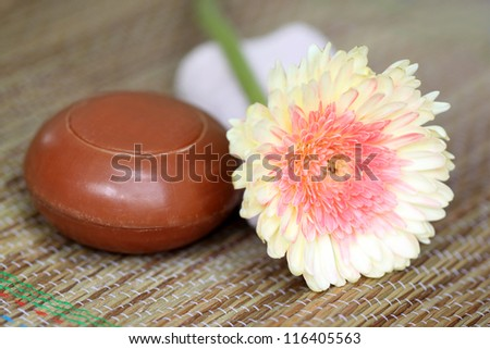 Natural soap - stock photo
