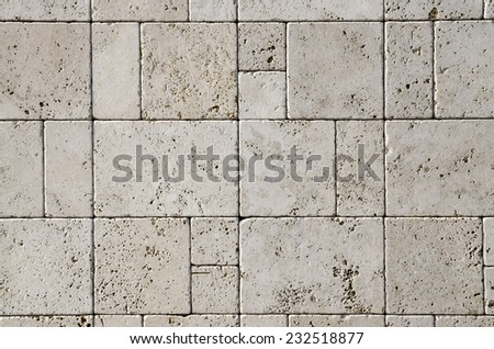 Natural stone, abstract stone work wall. Background and Texture - stock photo