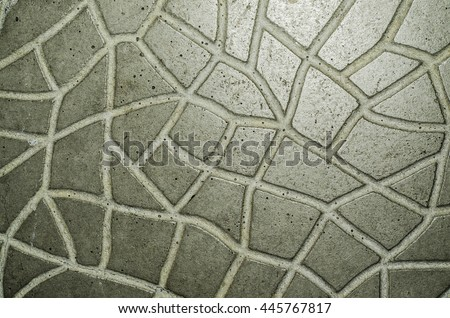 Natural stone, concrete and tile pavements found at tourist attractions and destinations around the world / Public pavements / Stones in their natural color and concrete and tile in various colors - stock photo