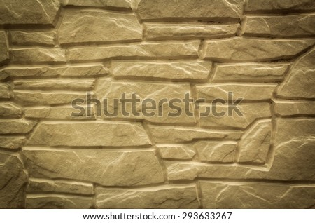 Natural stone wall for modern outdoor interior texture - stock photo