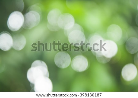 Natural Sunlight Bokeh and Blurry Background Stock Photo - stock photo