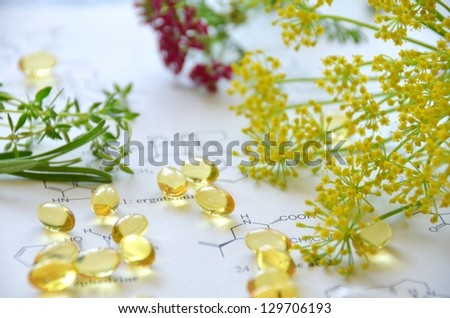 natural supplement - stock photo