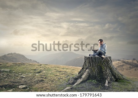 natural technology - stock photo