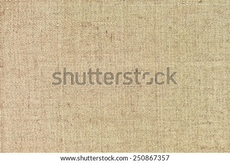 Natural textured horizontal grunge burlap sackcloth hessian sack texture, grungy taupe vintage country sacking canvas, large detailed bright beige pattern macro background closeup - stock photo