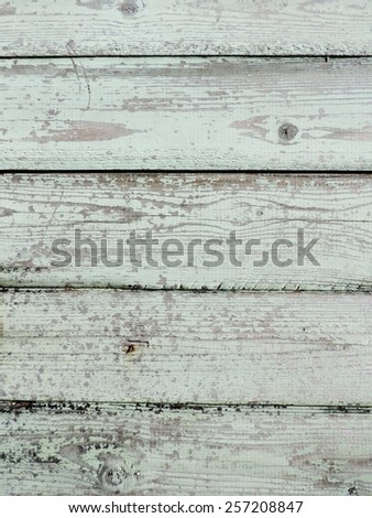 Natural wood texture with flaked paint for background - stock photo