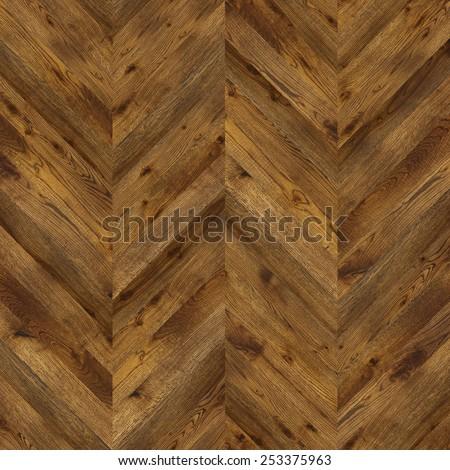 Natural wooden background herringbone, grunge parquet flooring design seamless texture for 3d interior - stock photo