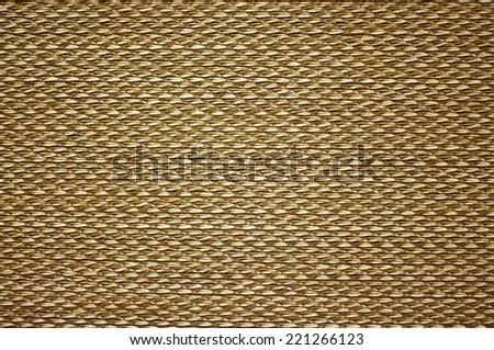 natural woven rattan grass background - stock photo