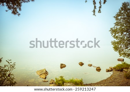naturally framed background with lots of text location in the center of the image - stock photo