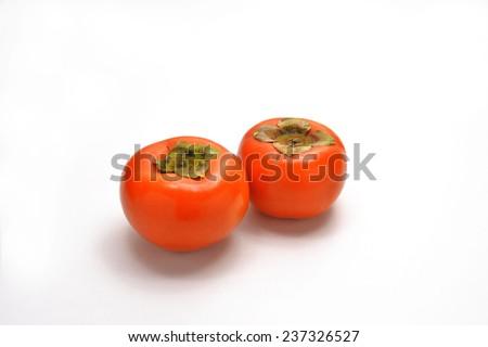 Naturally?fresh?fruits desert/Persimmon - stock photo