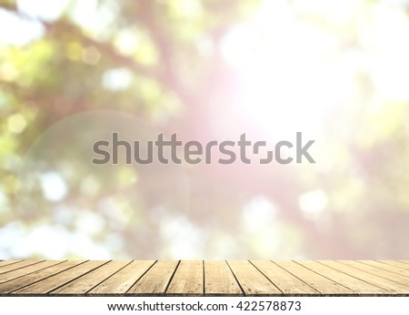 Nature abstract bokeh blurred background. give life Tree growth day hot summer future outdoor earth backdrop green natural room heaven blur sustainability fun be moody Mineral eyesight wooden balcony - stock photo