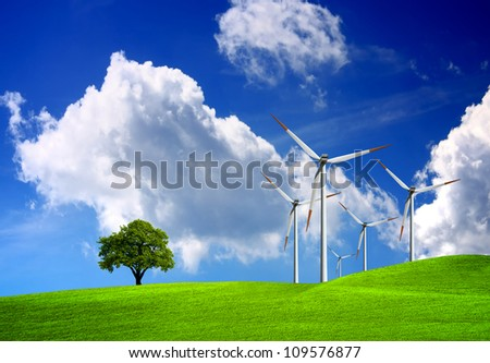 Nature and technology - stock photo