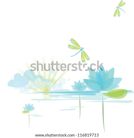 Nature background, Illustration raster - stock photo