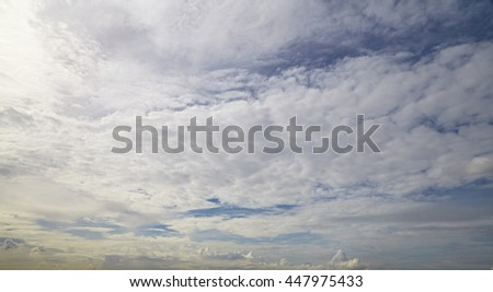 Nature cloudscape with blue sky and white cloud - stock photo