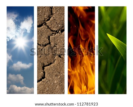 nature elements - stock photo