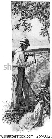 Nature is lavish in supplying mankind, vintage engraved illustration.  - stock photo