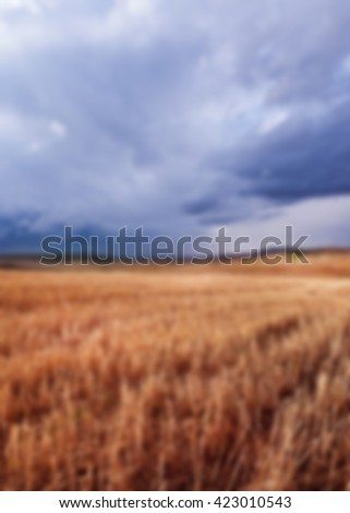 Nature landscape, blurred 100% - stock photo