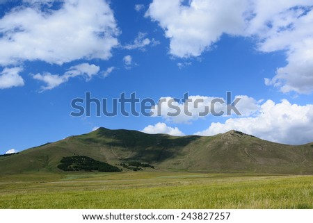 Nature landscape with beautiful clouds - stock photo