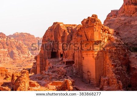 Nature of Petra, Jordan. Petra is one the New Seven Wonders of the World - stock photo