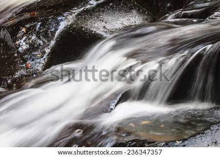 Nature waterfall in deep forest, in national park Thailand - stock photo