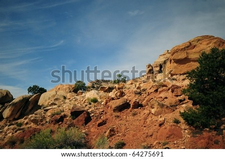 Natures Beauty-Canyon Lands National Park Utah - stock photo