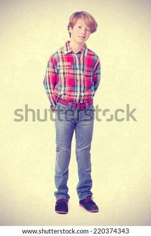 Naughty boy winking an eye - stock photo