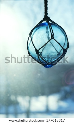 Nautical glass buoy float - stock photo