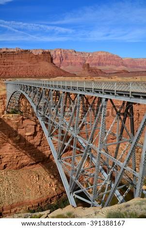 Navajo bridge, marble canyon, Arizona - stock photo