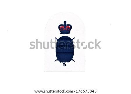 naval badge - stock photo