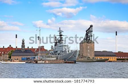 Naval military museum in Copenhagen - stock photo