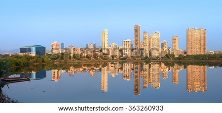 Navi Mumbai, India - 6 December 2015: Navi Mumbai is planned suburb built across sea on main land to reduce Mumbai congestion. - stock photo